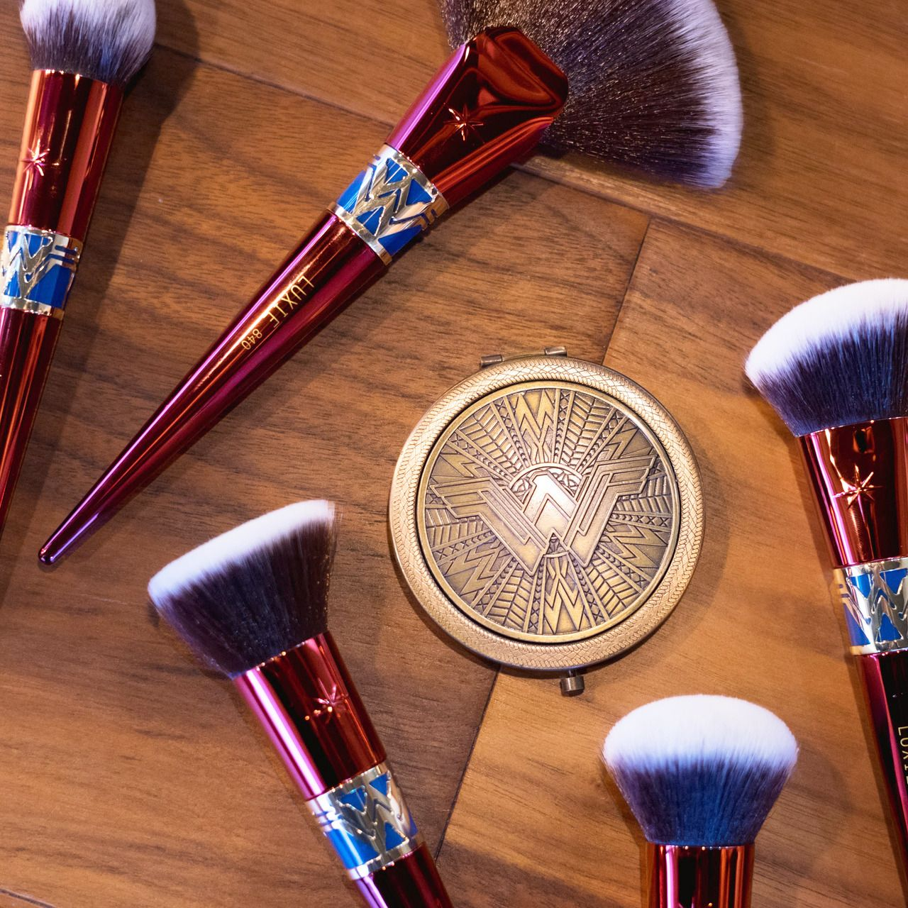 Officially licensed Wonder Woman makeup brushes with