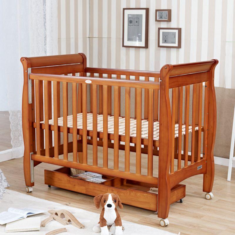 Cama cuna de beb peque o escritorio de madera elysium for Cunas para bebes de madera