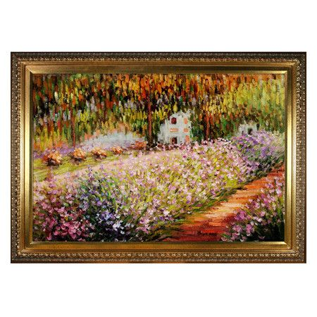 overstockArt Claude Monet Cliff at Dieppe with Victorian Gold Frame
