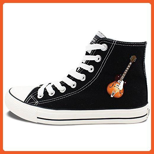 42a1405186574 Wenfire Black Fashion Sneakers Design Guitar Men Women's High Top ...