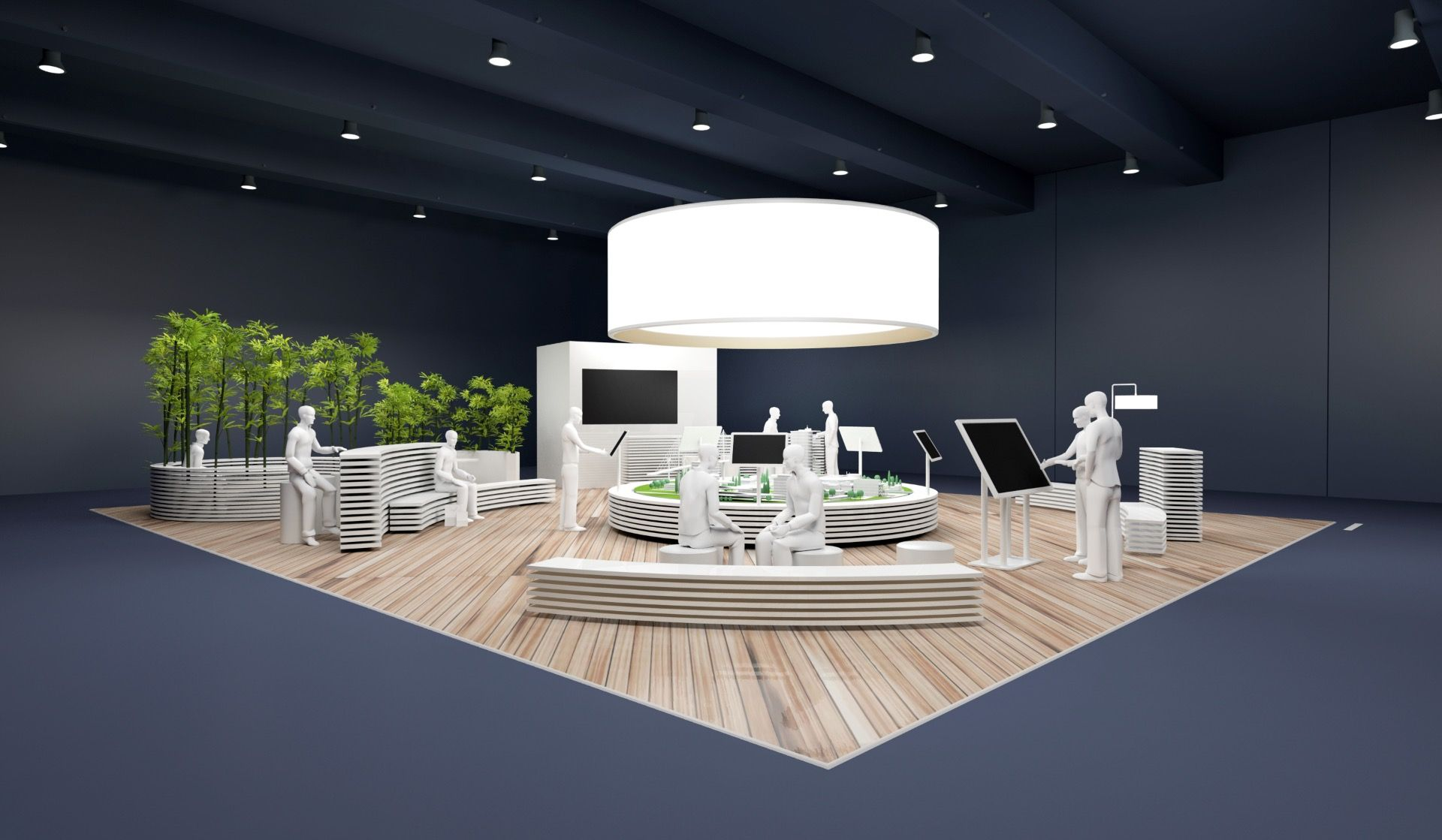 Concept de stand pour bouygues immobilier design espace design stand v nementiel design for Creation de stand pour salon