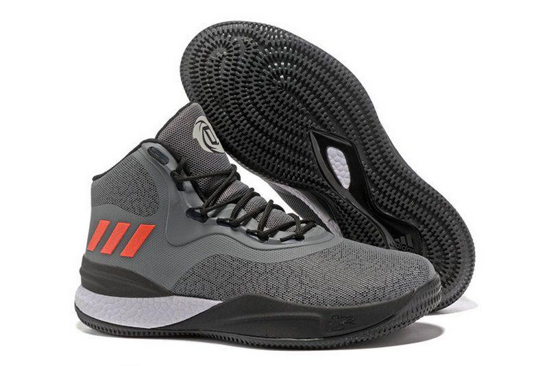 2f19b12b9f9d Adidas D Rose 8 Viii Dark Grey Max Orange Cheapest Sneaker ...