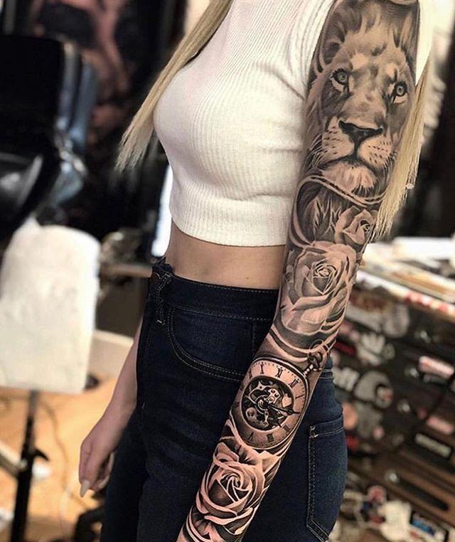 Stunning Sleeve Girls With Sleeve Tattoos Sleeve Tattoos Tattoos