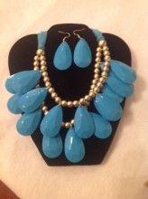 Dual Drop Necklace Set, Turquoise  $14.00 www.kellybrettboutique.com