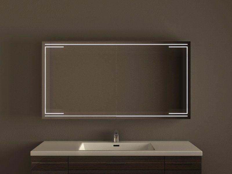 Gediegener Spiegelschrank fürs Badezimmer, LED Beleuchtung || Modell ...