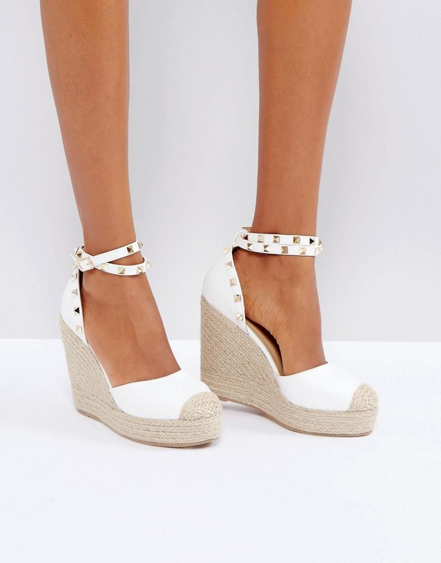Espadrille Mule Sandal - White pu Truffle LMIJ3ch4pr