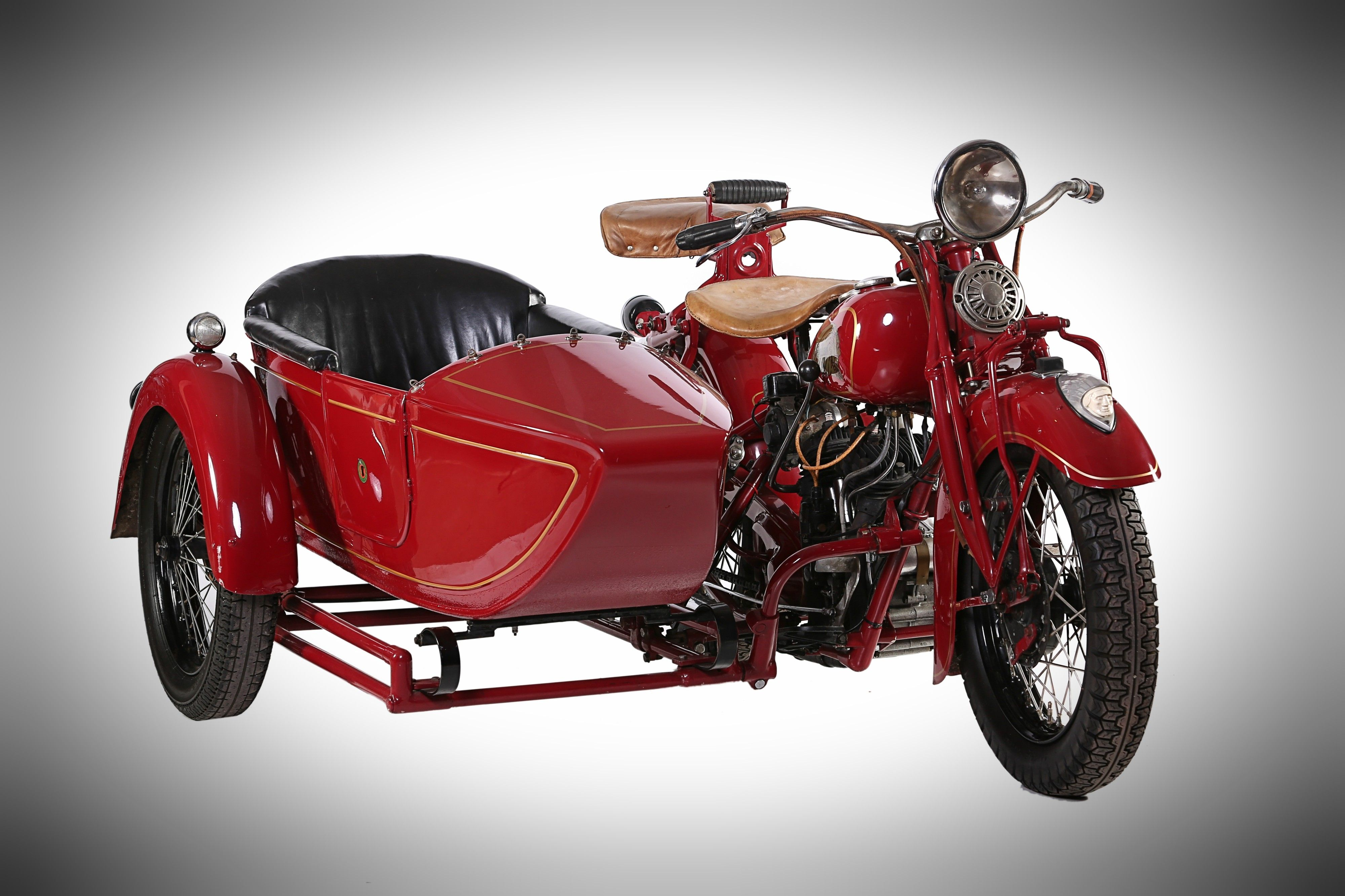 1936 Indian Standard Scout & Sidecar, on display at ...