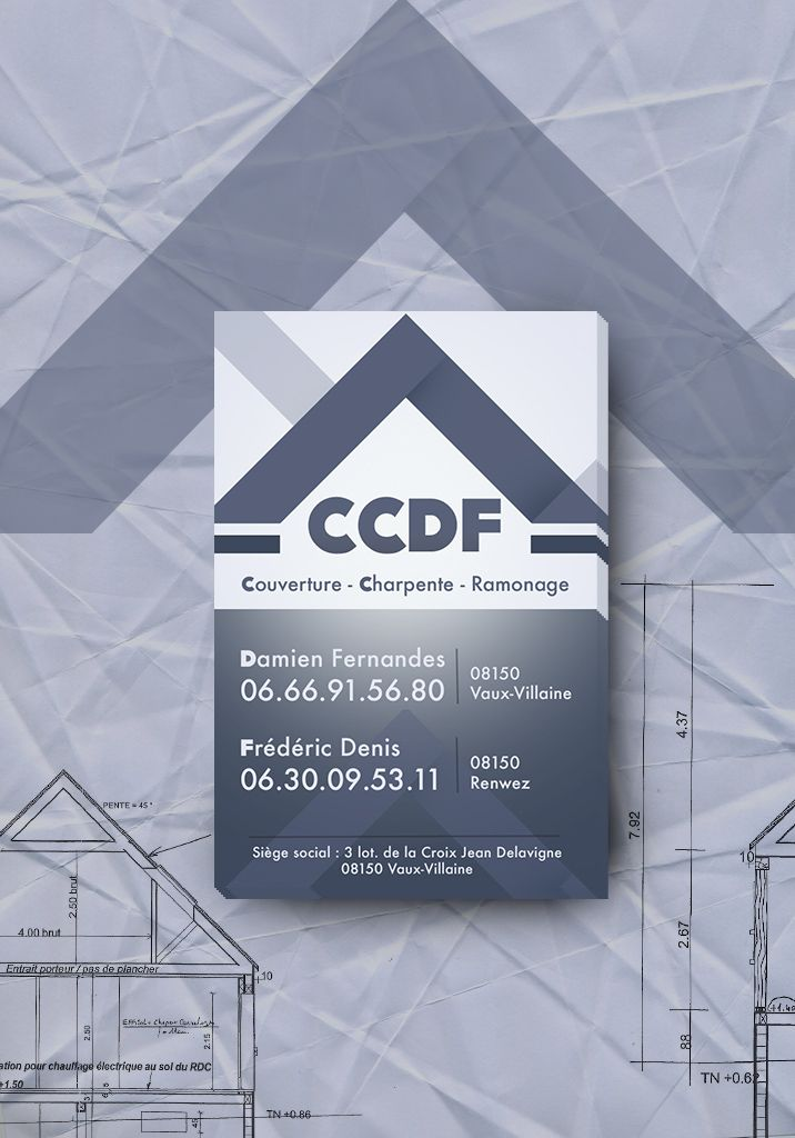 Creation De La Carte Visite Et Des Panneaux Chantier Pour Lentreprise Couverture CCDF