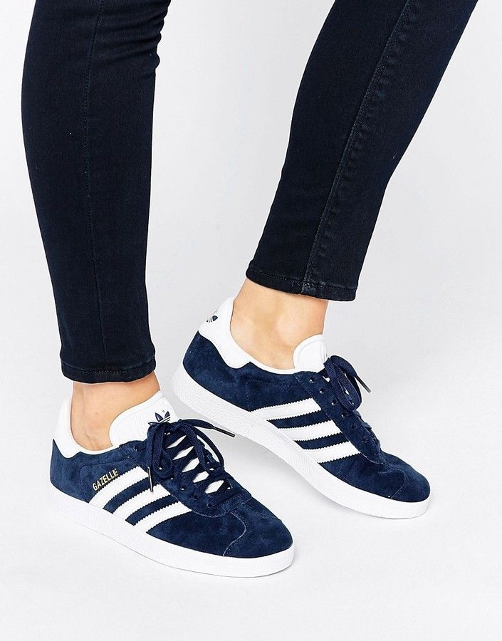 new products 4e100 ac2ae adidas Navy Suede Gazelle Sneakers