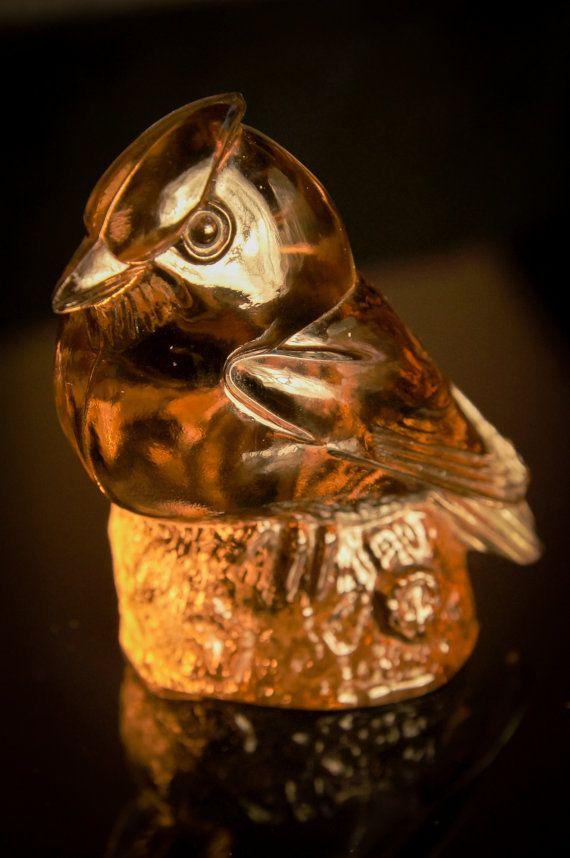Stunning WWF art glass bird figurine of a Bohemian waxwing. Limited ...