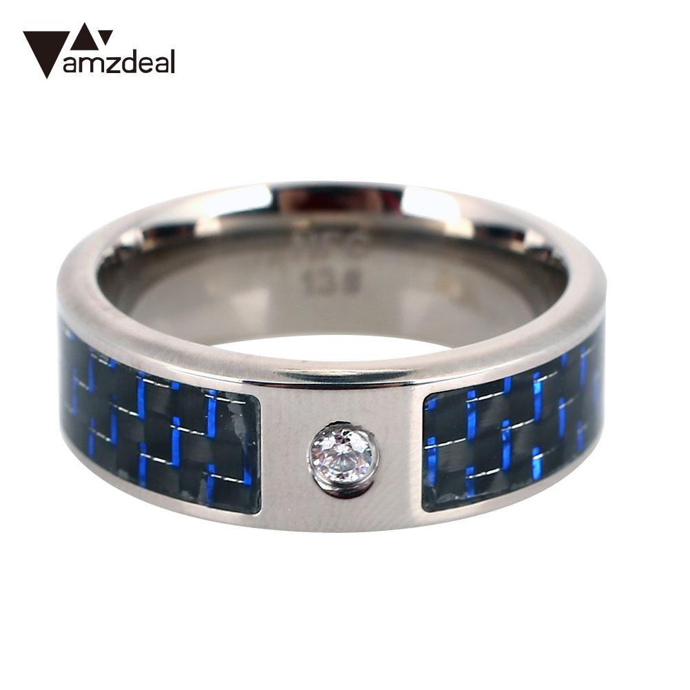 NFC Ring Finger Blue Fashion Wearable NFC Smart Ring