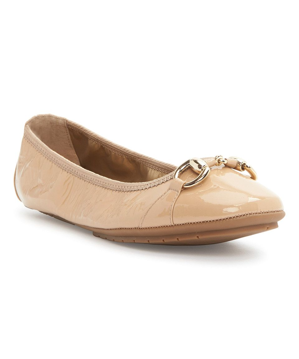This Me Too Driftwood Patent Legend Leather Ballet Flat by Me Too is perfect! #zulilyfinds