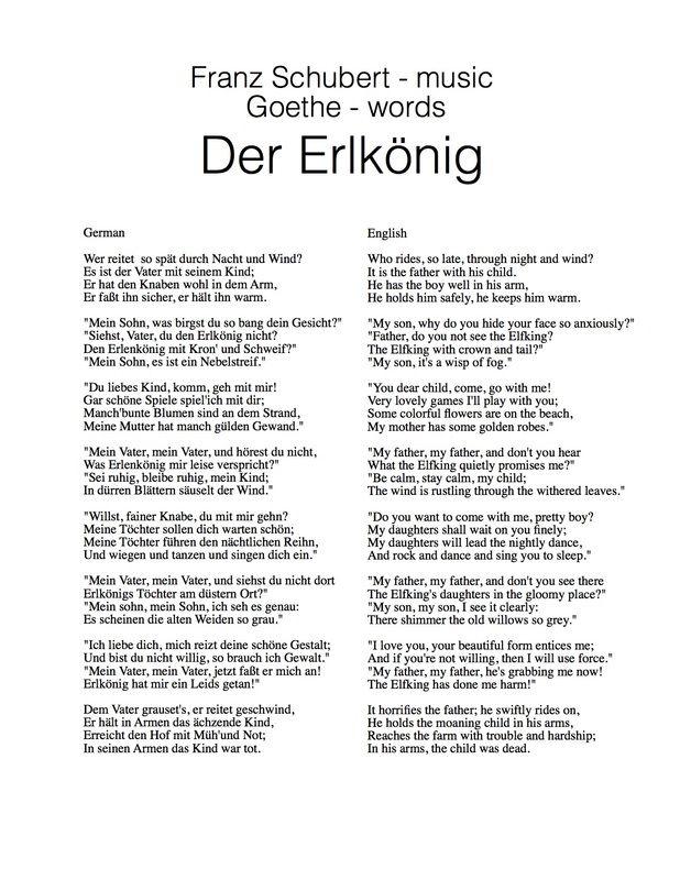 Der Erlkonig: Johann Wolfgang von Goethe | Johann Wolfgang von