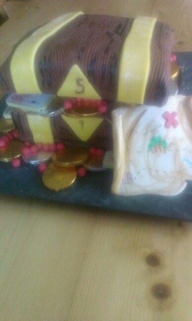 Piraten schatkist cake.
