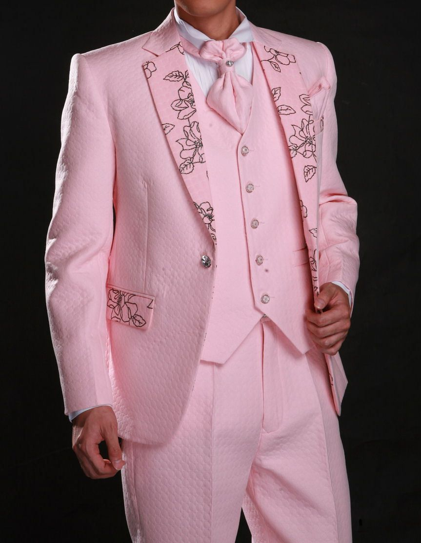 Free Shipping. 2013 Mens Singal Breast Pink Prom Suits 4 pieces set ...