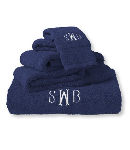Ultra-Absorbent Cotton Towels: Towels | Free Shipping at L.L.Bean                                             dark blue and yellow bath towel need one of each