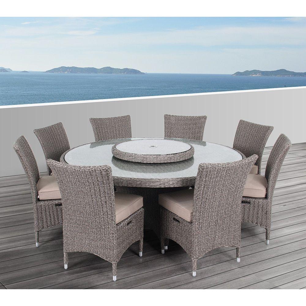 OVE Decors Habra II Outdoor 9 Piece Dining Set (Brown), Size Single, Patio  Furniture (Sunbrella)