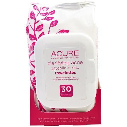 Acure Clarifying Acne Towelettes (1x30 Ct)