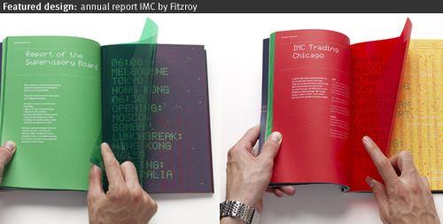 Fitzroy designed a unique annual report for IMC In the annual - annual report template design