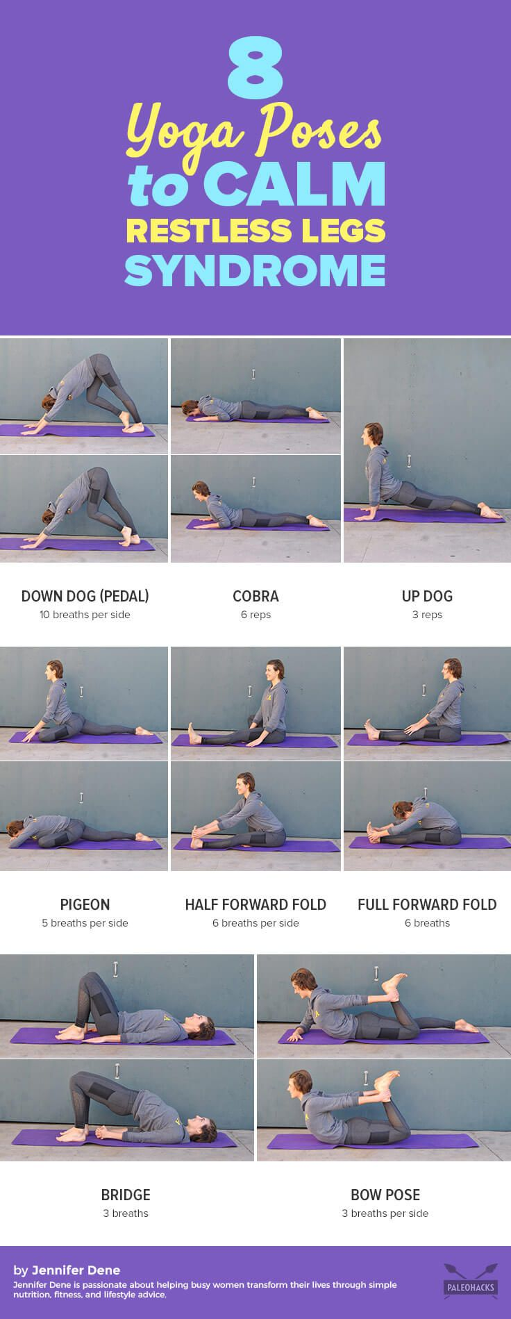 8 Yoga Poses To Calm Restless Legs Syndrome Easy Yoga Workouts How To Do Yoga Restless Leg Syndrome