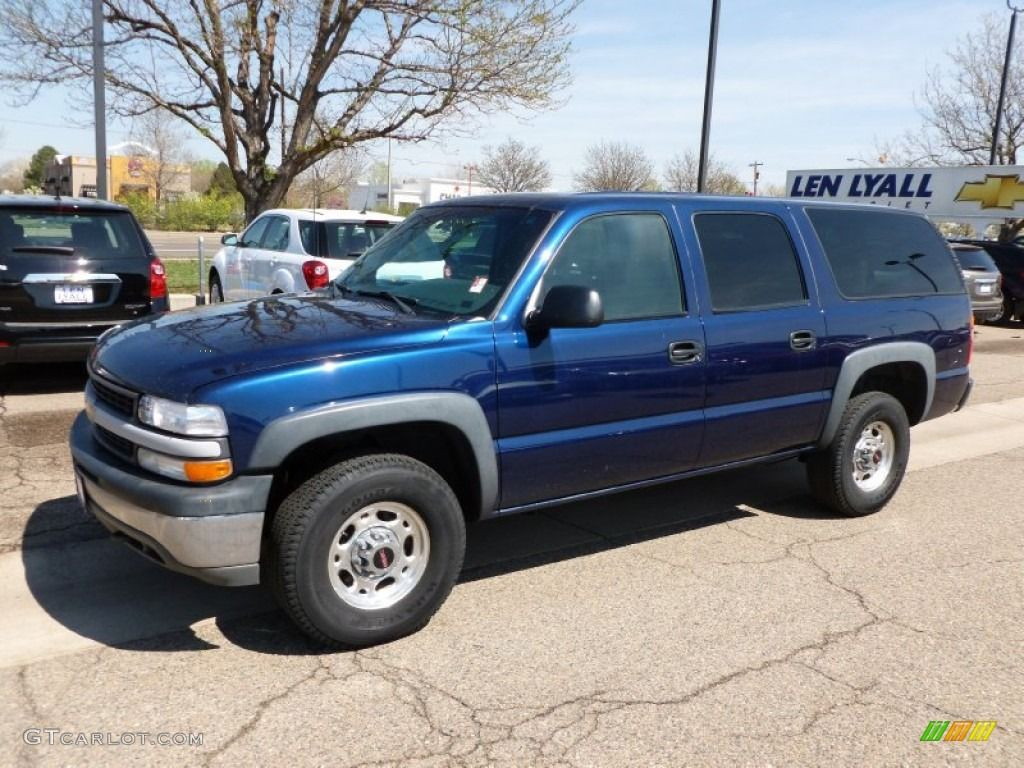 2001 Suburban 2500 Ls 4x4 Indigo Blue Metallic Graphite Photo