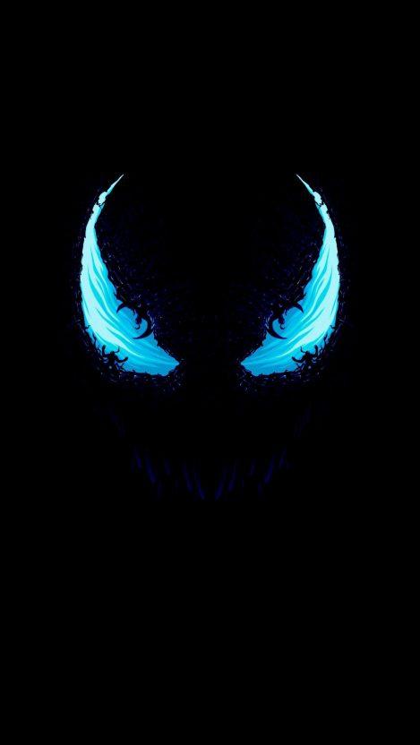 Venom Amoled iPhone Wallpaper Free GetintoPik Blue