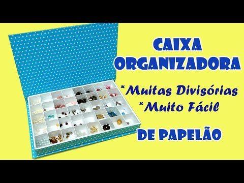 Caixa Organizadora Com Muitas Divisorias Muito Facil Artesanato