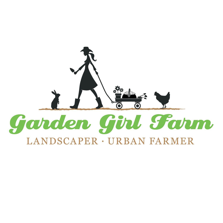 garden girl farm brand identity logo by axion design