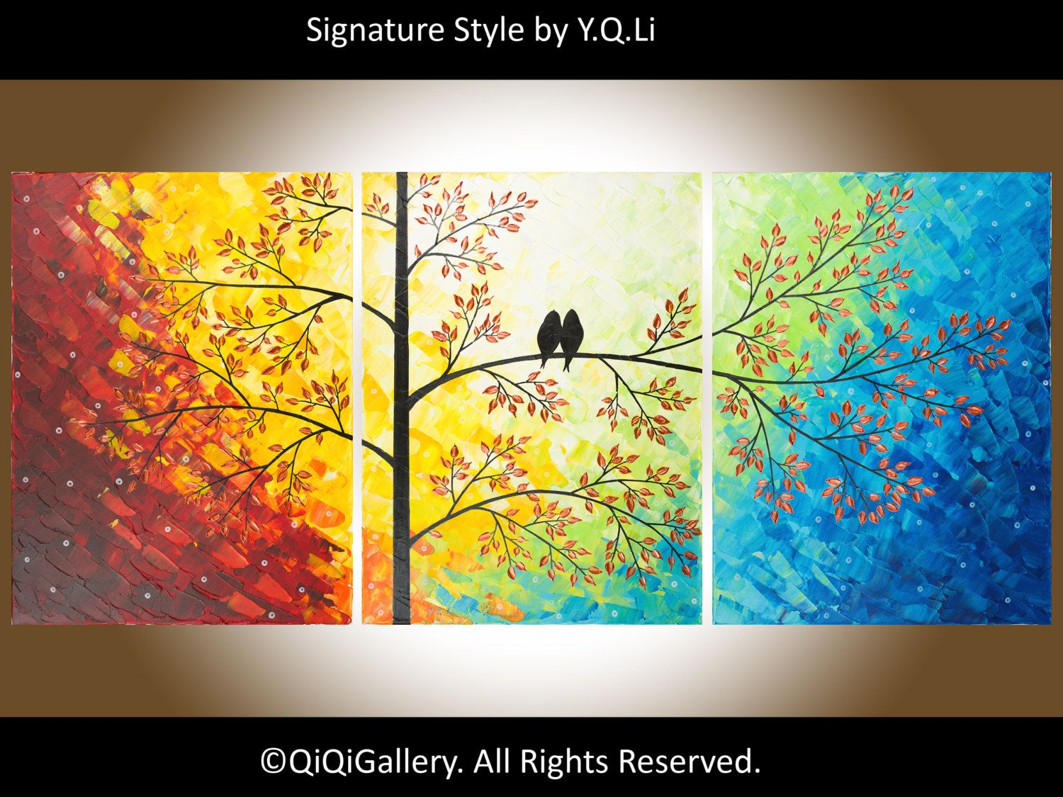 Original Modern Heavy Texture Impasto Painting Palette Knife Tree ...