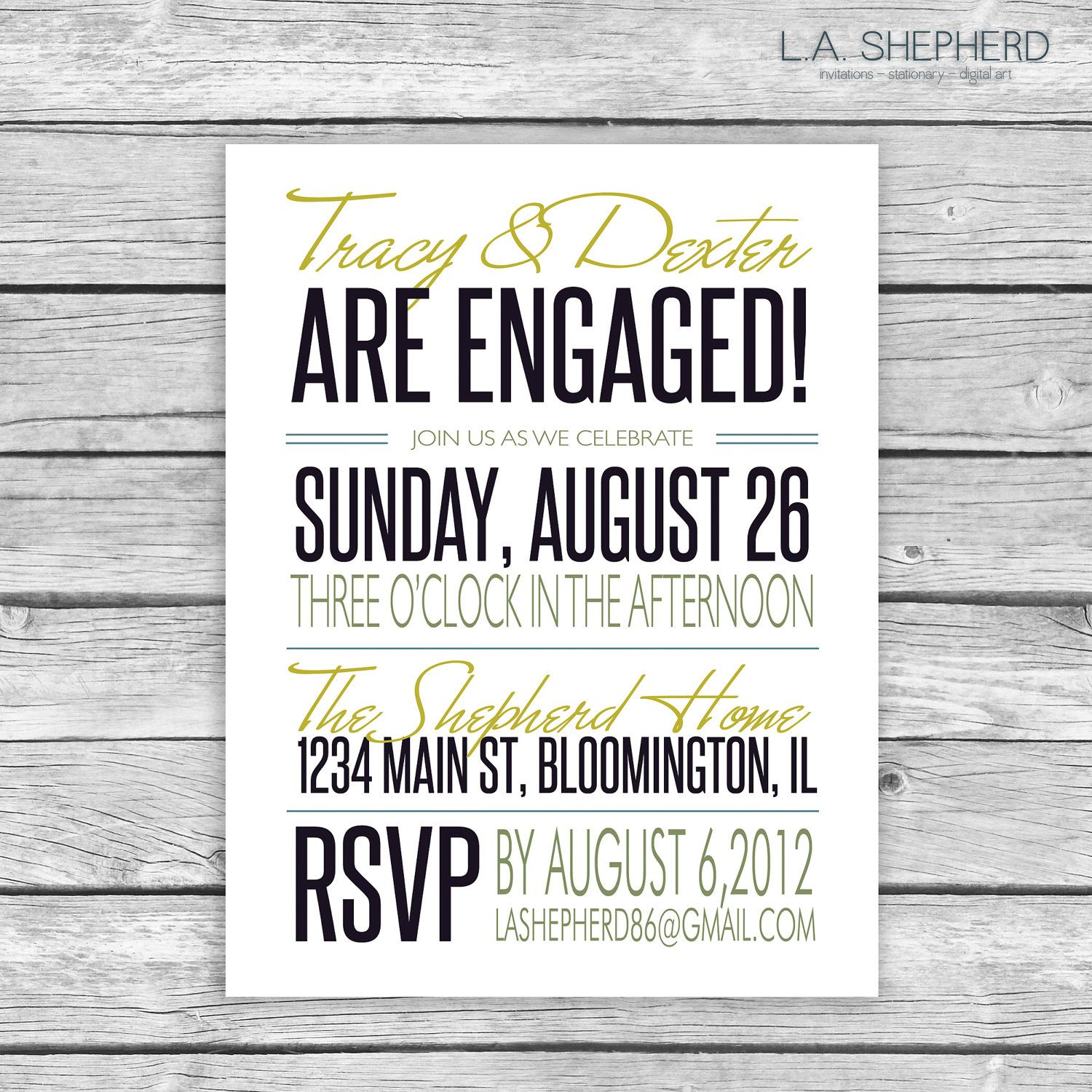 Engagement Party Invitation 1500 via Etsy – Engagement Party Invitations Etsy