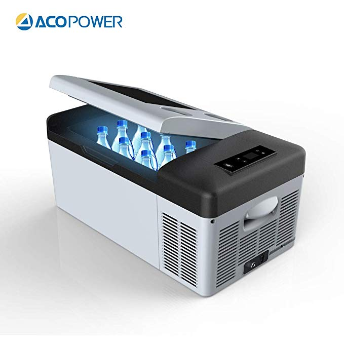 Amazon Com Acopower 4 F True Freezing 12v 24v Dc And 110v Ac 16 Quarts P15 Portable Compressor F Fridge Cooler Portable Compressor Compact Fridge Freezer