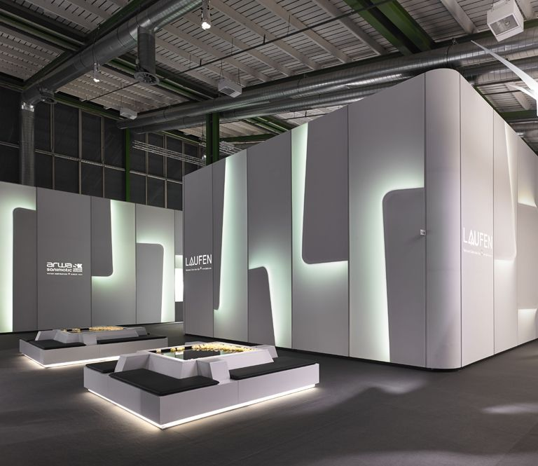 Simple Exhibition Stand Builders : Atelier oï laufen bathrooms architecture exhibits