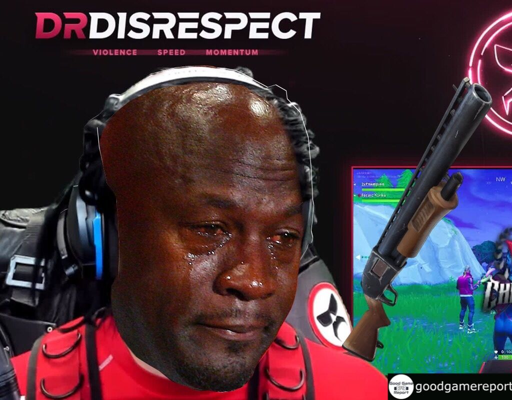 Michael Jordan crying meme on Dr Disrespect because he was
