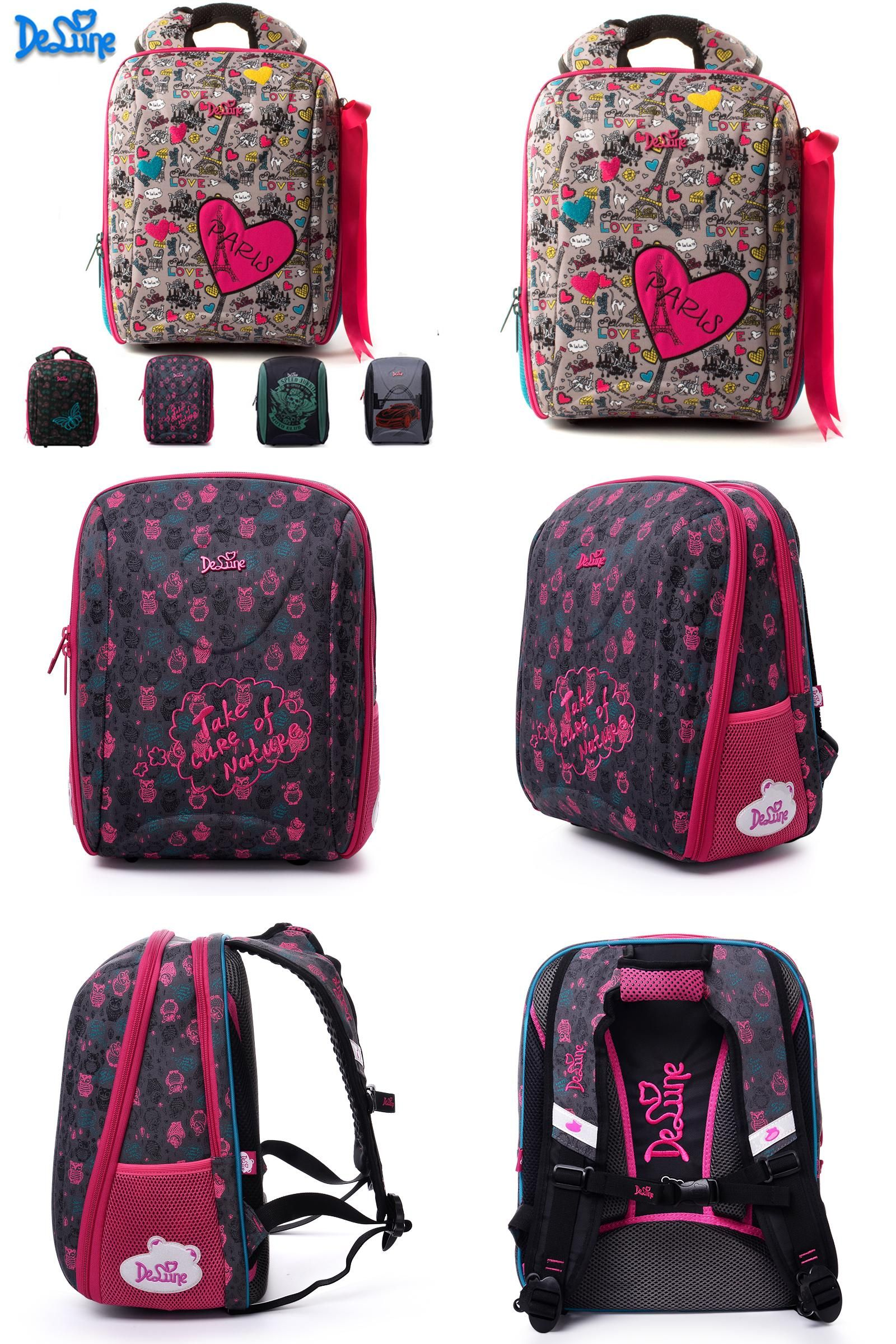ac179be967cd  Visit to Buy  Delune Brand School Bags for Girls Boys Printing Waterproof SchoolBag  Children