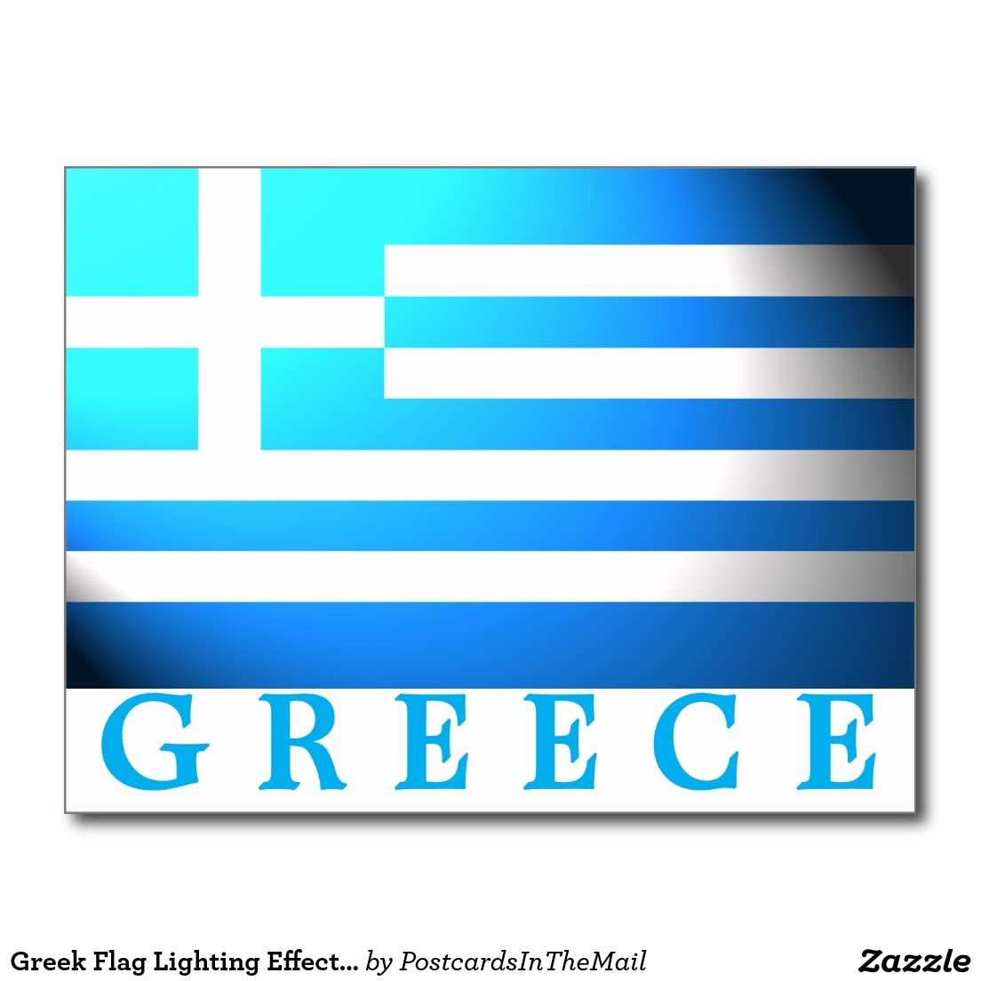 Greek flag lighting effect greece postcard world flags postcards greek flag lighting effect greece postcard arubaitofo Image collections