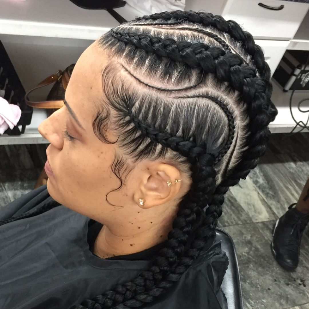 with small  Scalp Braids  Pinterest  Hair style Protective