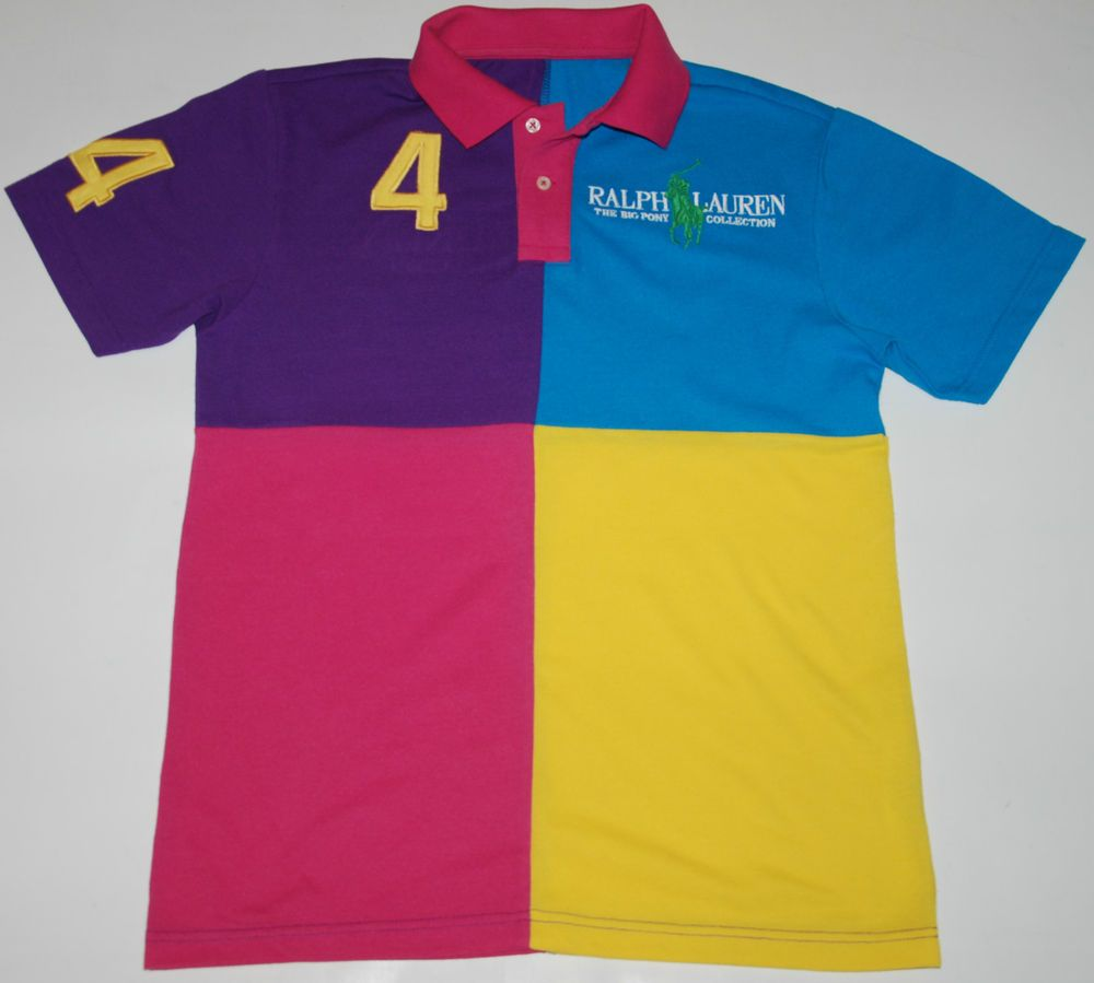 30028b54 RALPH LAUREN POLO SHIRT THE BIG PONY COLLECTION 4 COLORS MULTI SHORT ...