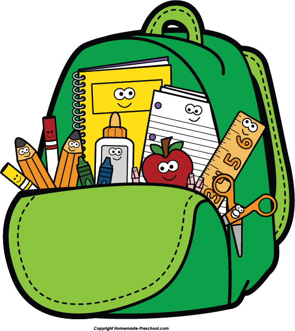 Art back. To school clipart clip