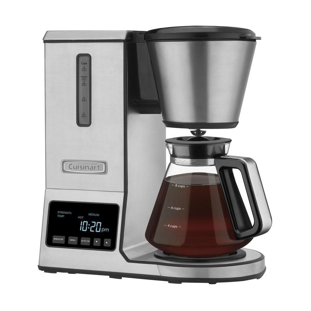 PurePrecision 8-Cup Pour Over Coffee Maker, Silver