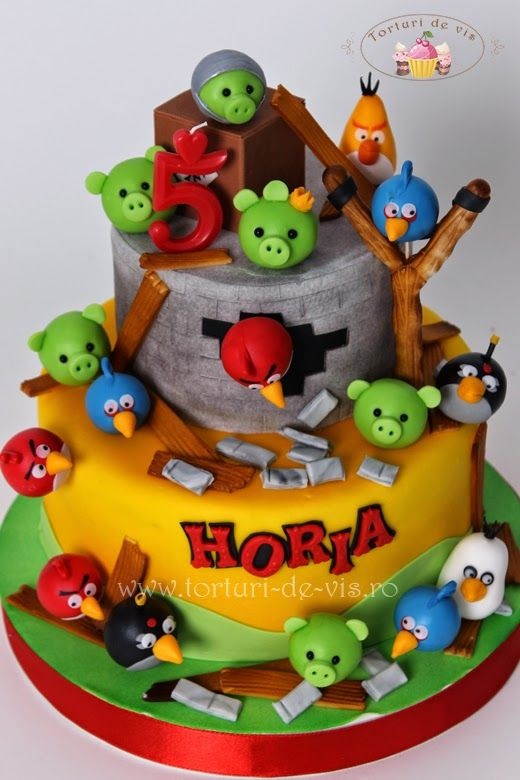 Tort Angry Birds pentru Horia My own cakes for children