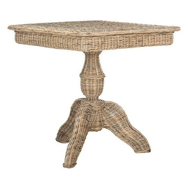 Sefina Wicker Accent Table ($549) ❤ Liked On Polyvore Featuring Home,  Furniture,