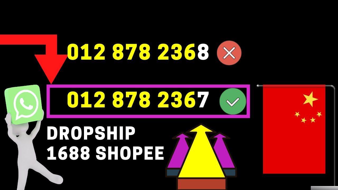 Dropship 1688 Shopee Info Tahun 2020 Video Sign