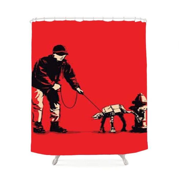 Banksy Atat Hydrant Shower Curtain Banksy Hydrant Shower Curtain