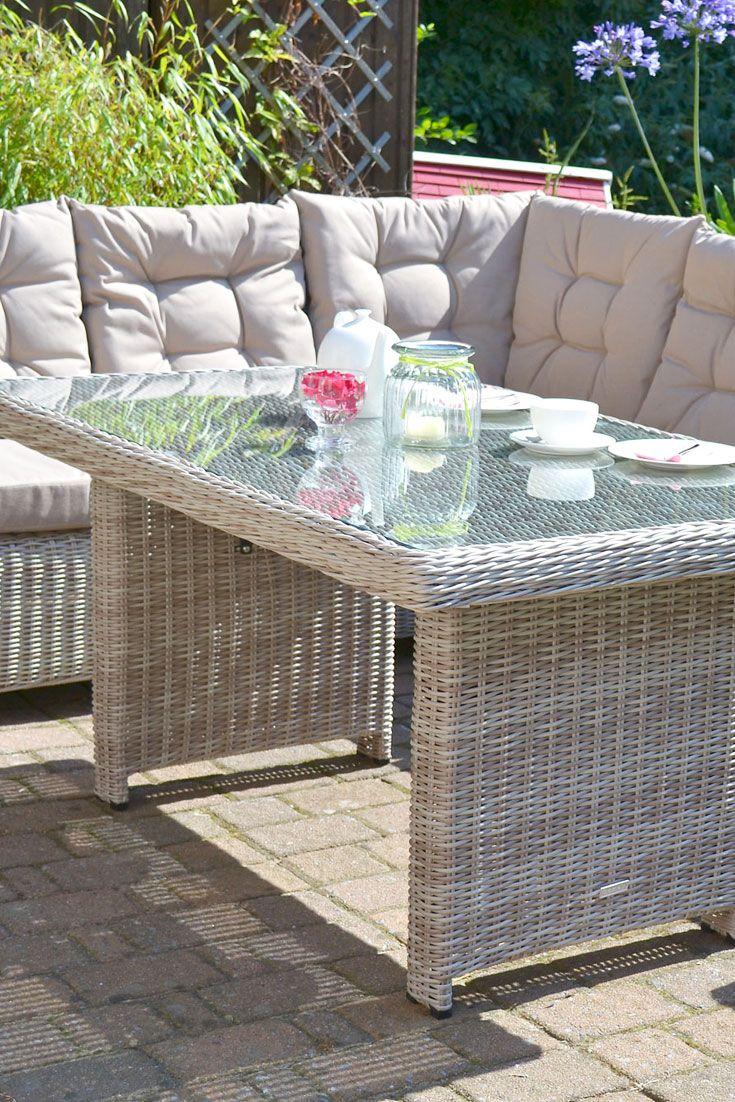 Ecklounge Manhattan Sand Grau Polsterfarbe Beige Garten Lounge