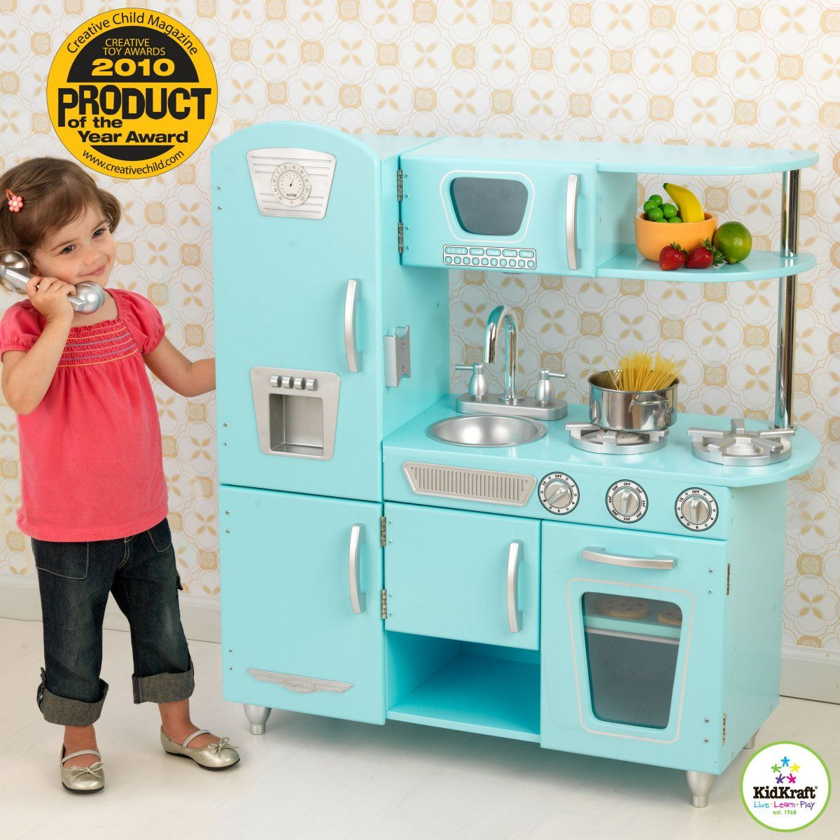KidKraft Blue Vintage Kitchen. This is a good toy for your toddler ...