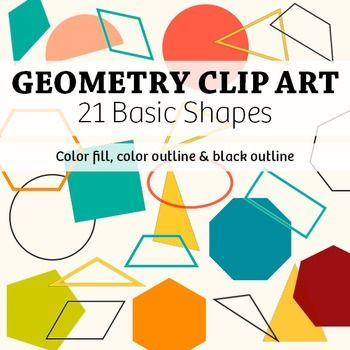 Geometry Clip Art 21 Basic 2d Shapes Commercial Clip Art