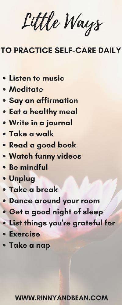Kleine Möglichkeiten, sich täglich selbst zu pflegen   – RINNY & BEAN Blog