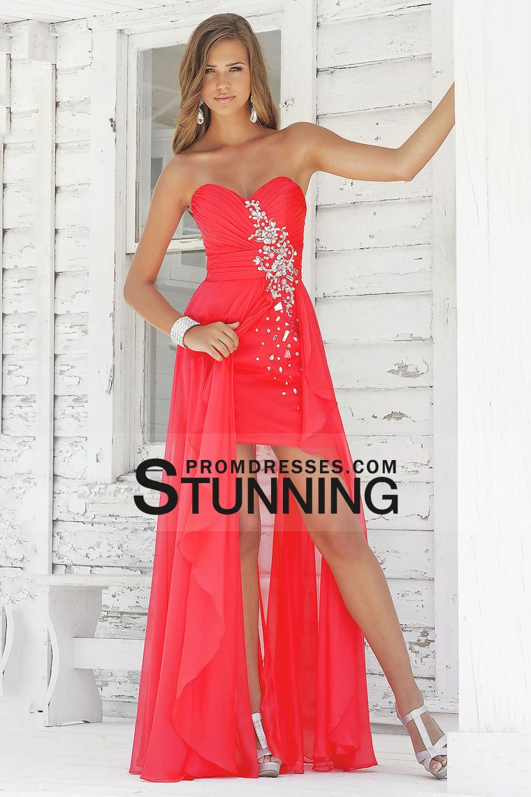 prom dresses sheathcolumn sweetheart chiffon asymmetrical with