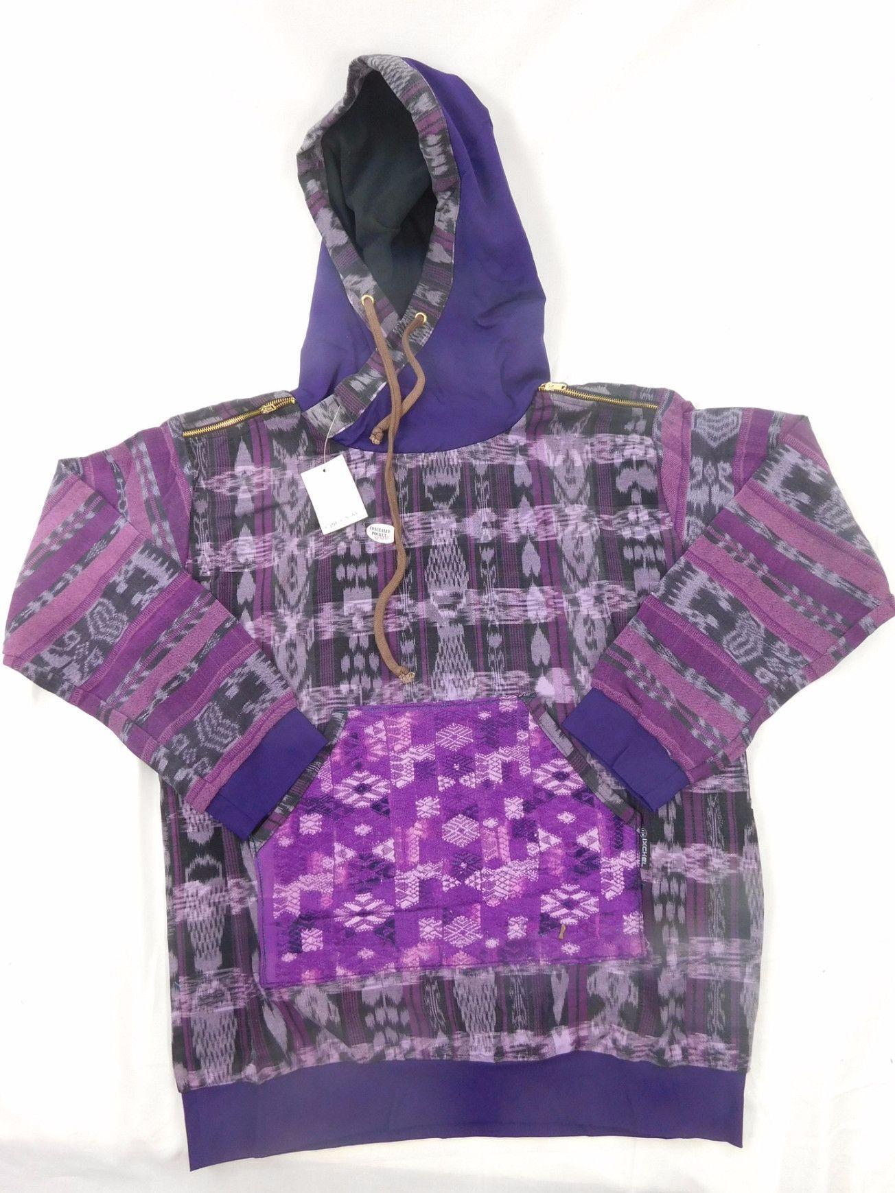 Hand woven cotton hoodie street wear styled