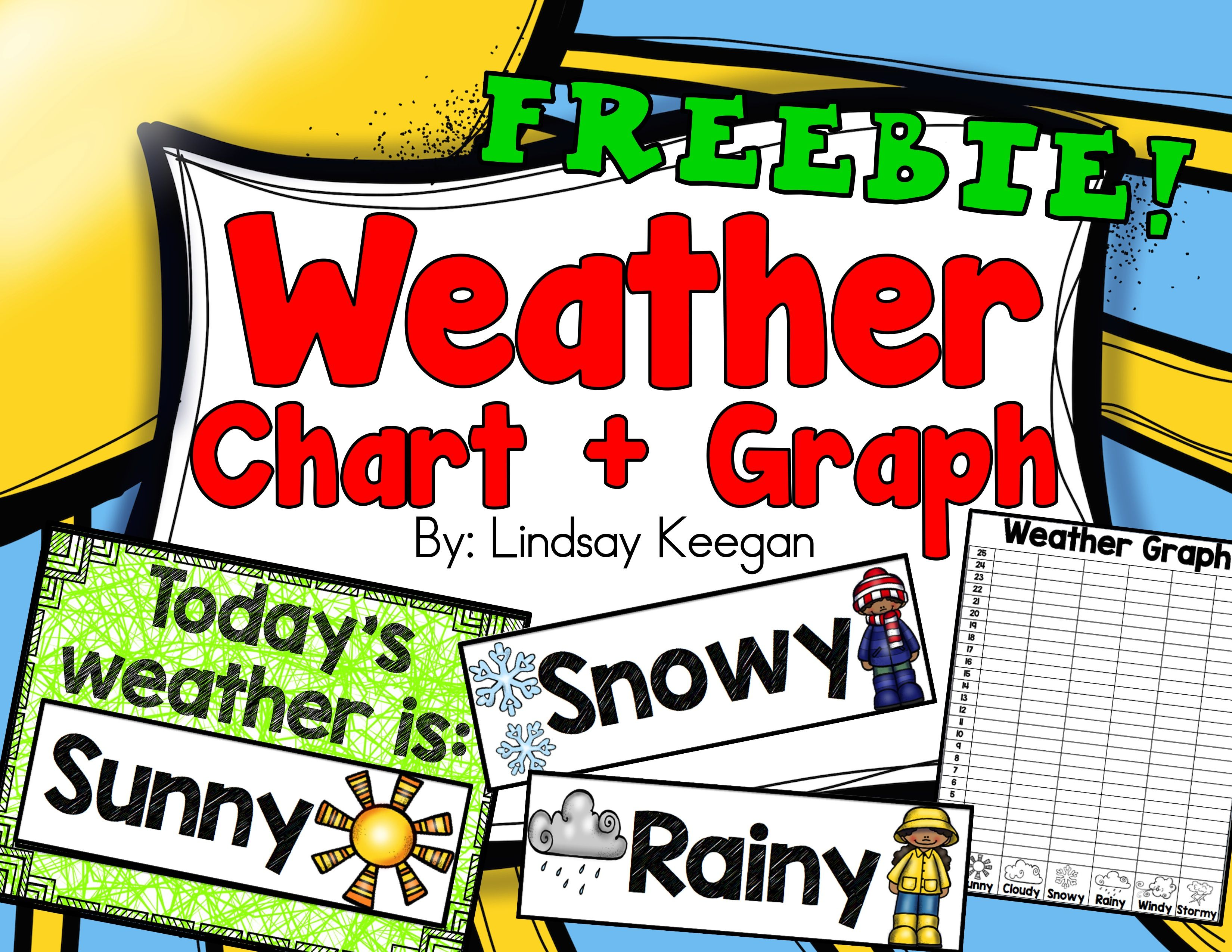 Weather Chart And Graph Freebie